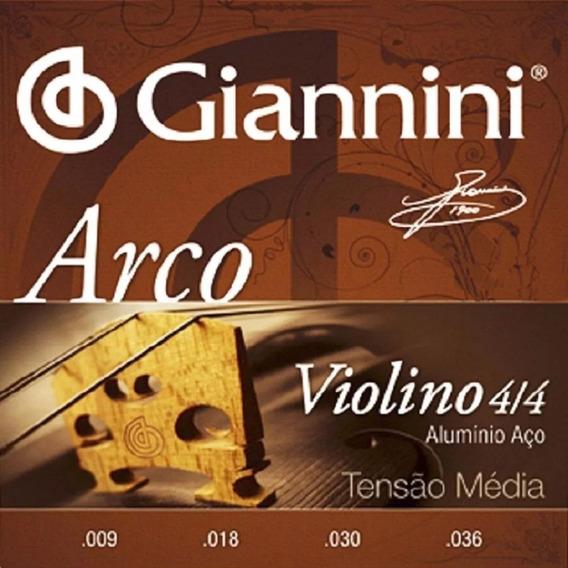 Encordoamento Cordas Média Violino 4/4 Série Arco Giannini