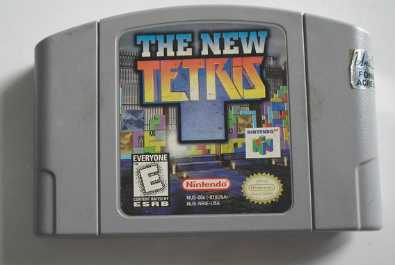 The New Tetris Nintendo 64 Original Usada