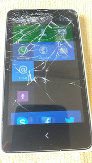 Celular Nokia X Asha Usado Touch Trincado