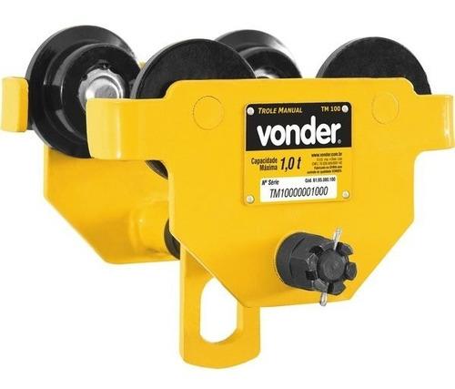 Imagem 1 de 3 de Carro Trole Manual Com Capacidade Para 1 Tonelada - Vonder