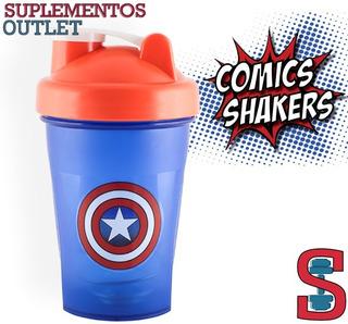 Shaker Superheroes. 400ml. Comic Shaker. Capitan America