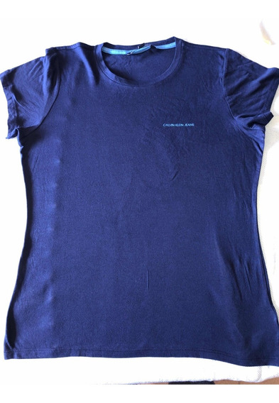 Remera Calvin Klein Mujer Original Azul T.l