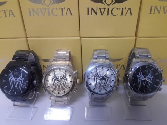 Promoção 4 Relógios Invicta Modelo Aranha Na Caixa