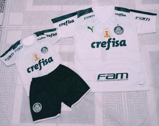 Palmeiras Camisa Masculina+conjunto Infantil Pai E Filho