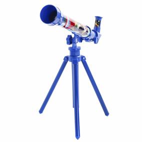 Telescopio Astronomico Disney Original Telescópio 30mm Azul