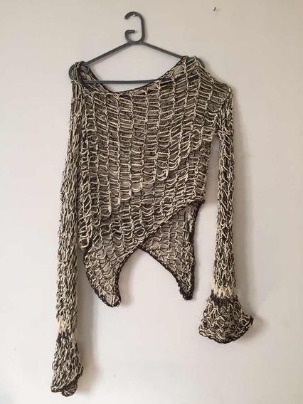 Sweater Calado Grande Irregular Usado