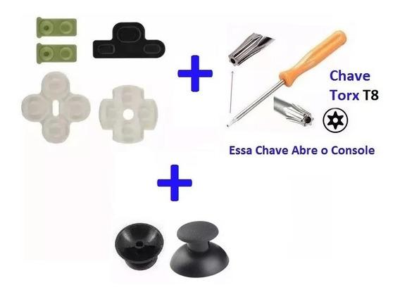 Kit Borrachas Controle Ps3 + Chave X Ou Torx T8 -frete 12,80