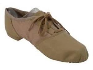 Capezio Zapatos De Jazz Niñas Piel+lona Color Tan Excelentes