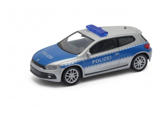 Autovolkswagen Sirocco Polizei Esc 1:43 Metal Coleccion