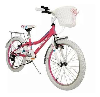 Bicicleta Para Niña Philco Rodado 20-canasto Y Portaequipaje