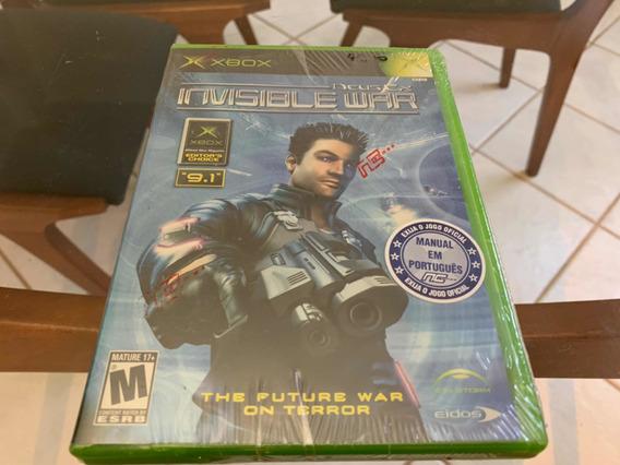 Deus Ex Xbox Clássico Raro Lacrado Pela Importadora