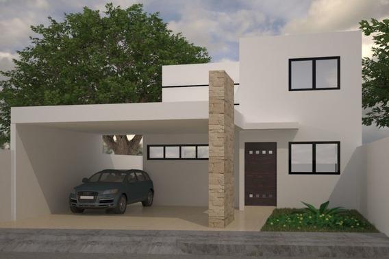 Preciosa Residencia A Estrenar En Privada Avenida Conkal. Zona Norte.