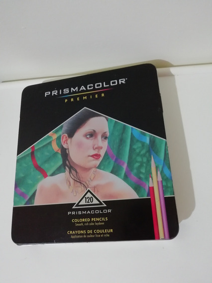 Caja De 120 Crayones Colores Prismacolor Usados