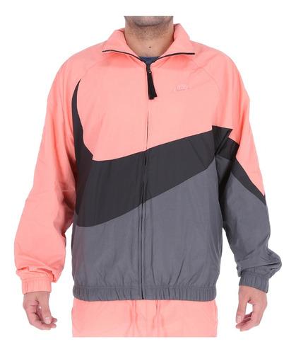 Oponerse a Vaciar la basura Tiranía  Chaqueta Nike Hombre Sportswear Swoosh Pink Look/black/grey | Mercado Libre