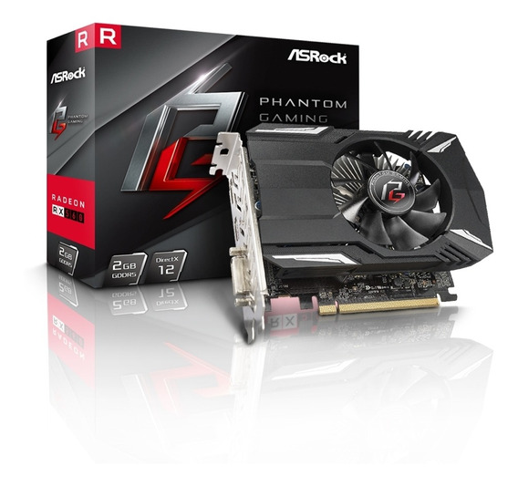 Placa De Video Rx560 2gb 128bits Gaming Ddr5 Amd Asrock