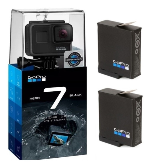 Câmera Gopro Hero 7 Black 12mp 4k + 2 Baterias Extra Original