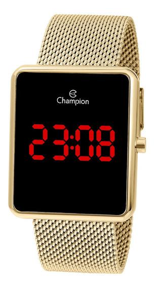 Relógio Champion Feminino Ch40080v Digital, Quadrado, Dourad