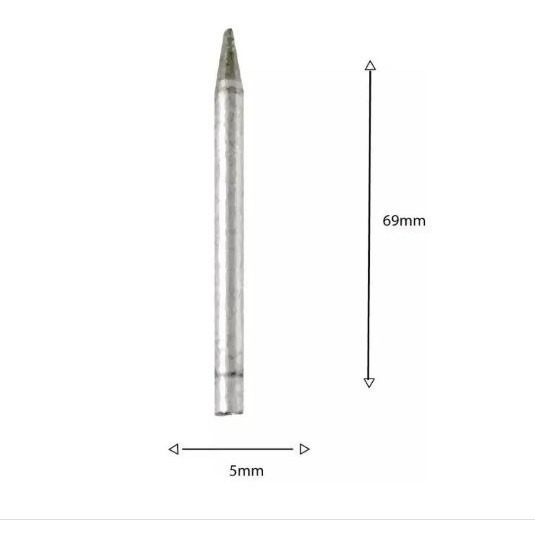 Ponta Ferro De Solda 40w Hikari/yashun/afr D5mmxc69mm - 2 Pç