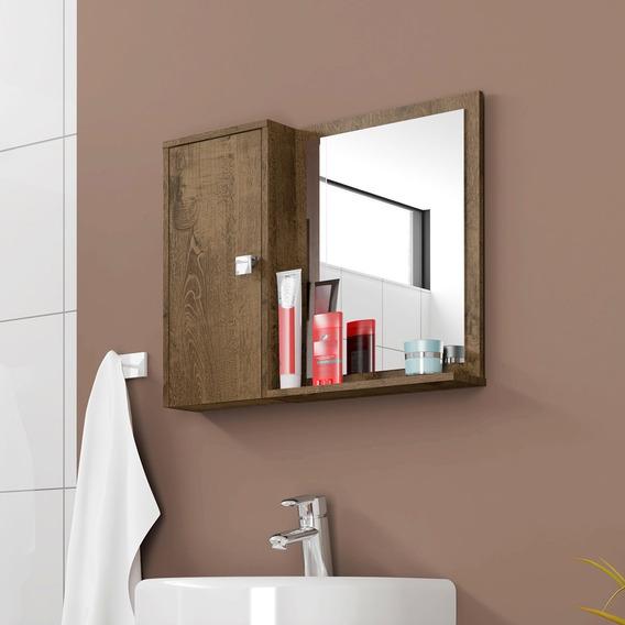 Armário Espelheira Banheiro Gênova Madeira Rústica Bechara