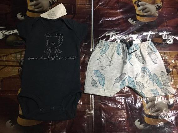 Conjunto Body E Short Baby Alto Verão 2018
