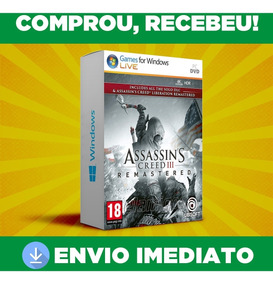 Assassins Creed Iii Remastered - Pc Português - Envio 0