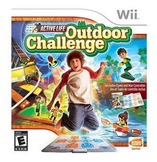 Wii Outdoor Challenge Game Cd + Alfombra Mat *leer Descrip.