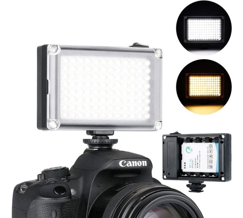 filtro de imán para Sony Panasonic Canon Nikon DSLR Recargable 96LED Luz de vídeo