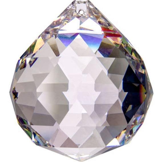 3 Bola Cristal Asfour Esfera Feng Shui 3,0 Cm Lustres