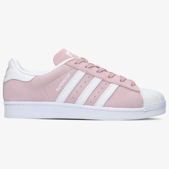 Tenis Superstar Clássico Rosa Com Listras Brancas. Original.