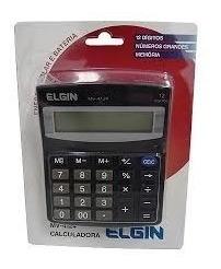 Calculadora Elgin 4124 12 Di Memoria Energia Solar E Bateria