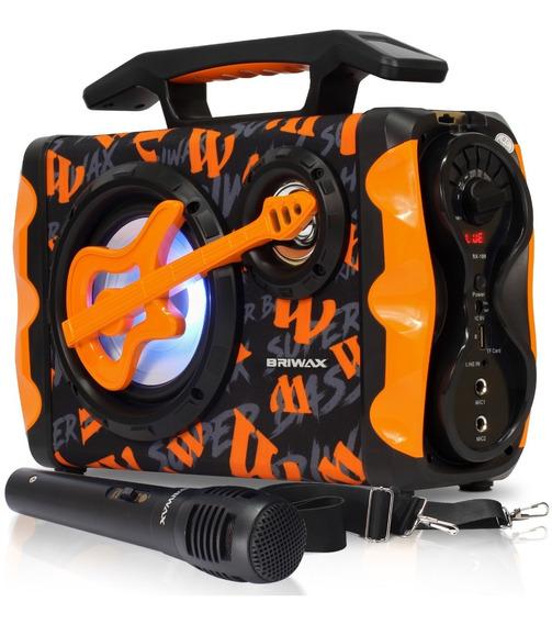 Aparelho De Som Bluetooth Portatil Microfone Usb Radio Fm