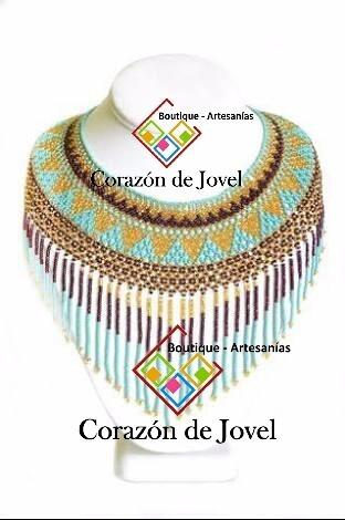 Lote 12 Collares Artesanal/chiapanecos Coloridos De Chaquira