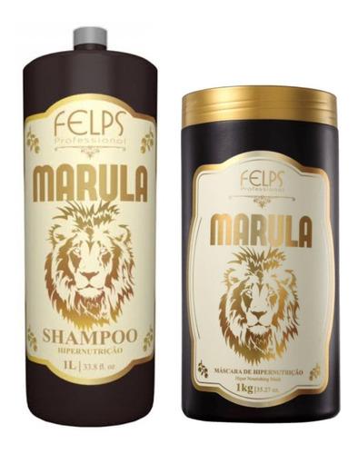 Felps Marula Shampoo  Hipernutrição 1000ml + Máscara 1kg