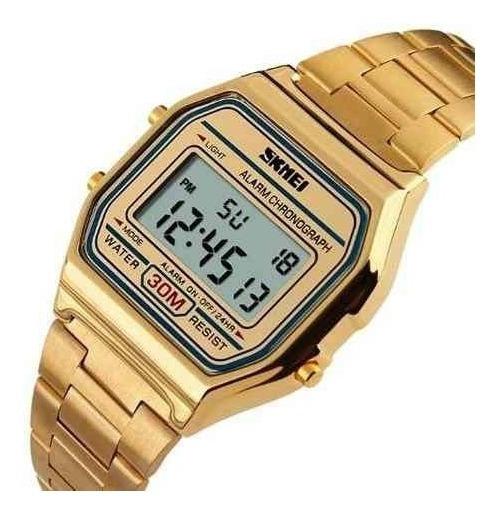 Relógio Feminino Dourado Skmei 1123 Original Barato