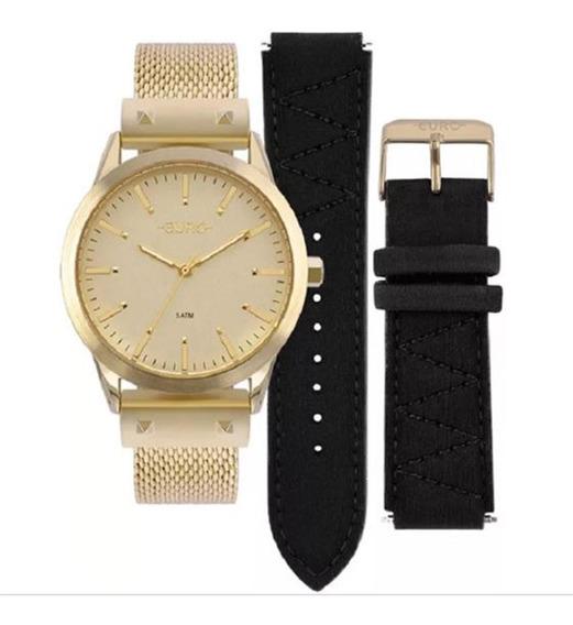 Relógio Euro Analógico Feminino Troca Pulseira Eu2035yok/4d