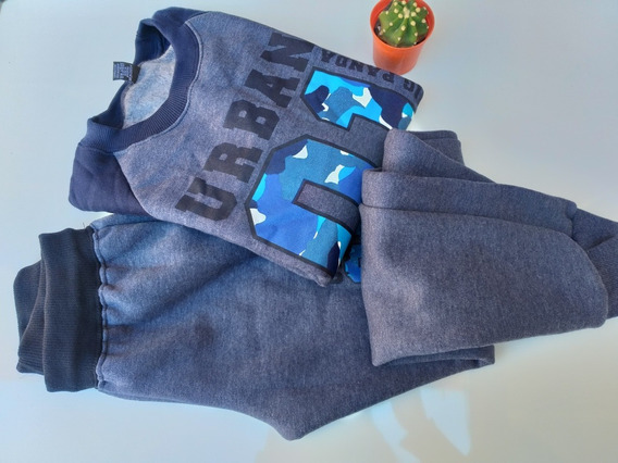 Conjunto Buzo/pantalón Varón De Friza