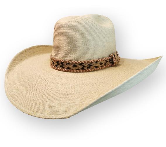 Sombrero Palma Fina De Tlapehuala Refaldeado Tipo Superbull