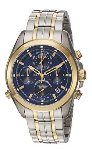 Relógio Bulova Masculino Precisionist Prata/dourado/azul