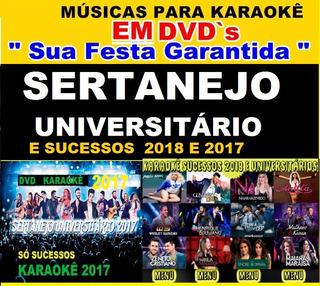 Dvd 2018 Musicas Karaokê Sertanejo Universitário Sucessos Cd