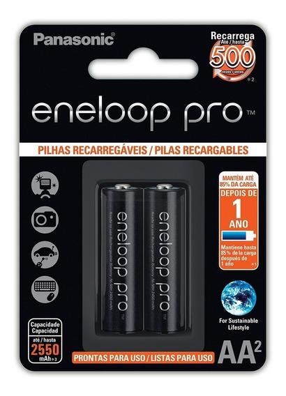 Pilha Recarregável Eneloop Pro Pequena Aa Ct C/02