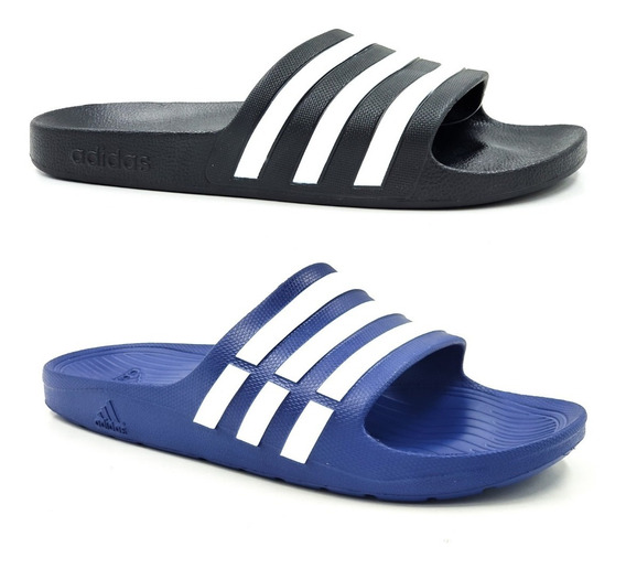 Sandalia adidas Adilette Hombre Azul-negra
