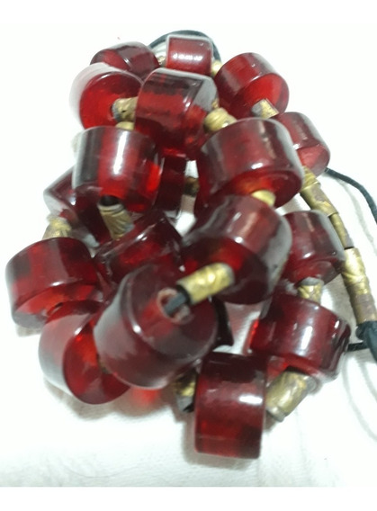 Colar Muranos Vermelhos Largura 54-70cm Detalhes Em 10 Fotos