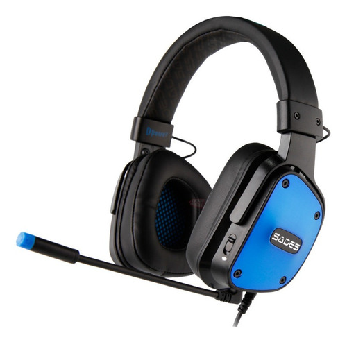 Diademas Gamer Sades Dpower Ps4 Xbox Pc Y Portatil Auricular