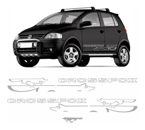 Adesivo Faixa Lateral Volkswagen Crossfox 2008 Prata