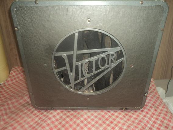 Raridade / Maleta Antiga Metal /caixa Som Victor C/auto Fala