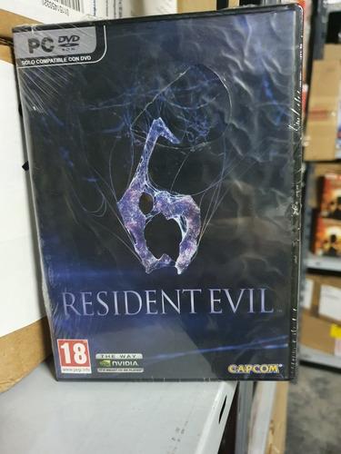 Resident Evil 6 Pc Fisico Nuevo Castellano Abasto