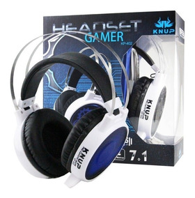 Headset Fone Gamer Knup 7.1 Pc Usb Led Microfone Pronta Entr