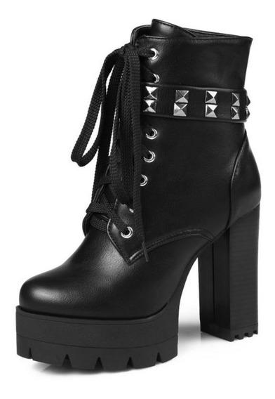 Sapato Feminino Plataforma Salto Alto Tira Cruzada