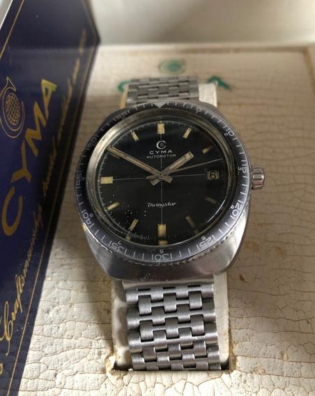 Relógio Vintage Diver Diving Star Cyma Mergulho Automático