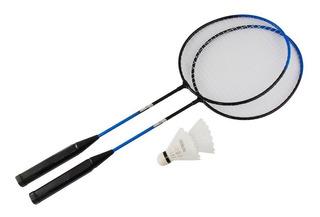 8 Jogo Kit Raquete Badminton 2 Raquetes 2 Petecas 1 Estojo